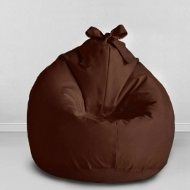 Кресло бескаркасное Мини-Груша Kids Шоколад, оксфорд
