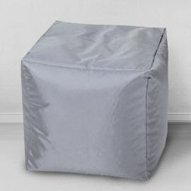 Пуфик Кубик Серебристо-серый
