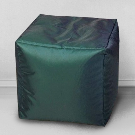 Пуфик Кубик Темная трава