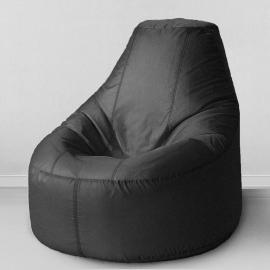Кресло бескаркасное Люкс Черный, оксфорд