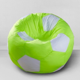 Кресло бескаркасное Футбольный мяч Лайм, оксфорд