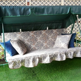 Матрас  с 2-мя подушками на садовые качели Ампир
