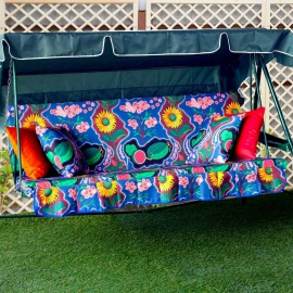 Матрас  с 2-мя подушками на садовые качели Два континента