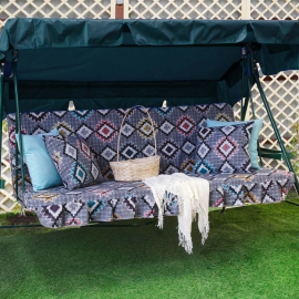 Матрас  с 2-мя подушками на садовые качели Этнос