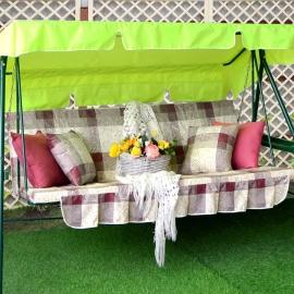 Матрас  с 2-мя подушками на садовые качели Классика