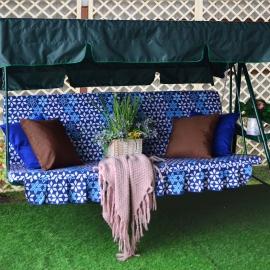 Матрас  с 2-мя подушками на садовые качели Лердан