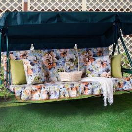 Матрас  с 2-мя подушками на садовые качели Марта