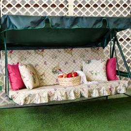 Матрас  с 2-мя подушками на садовые качели Новый Прованс