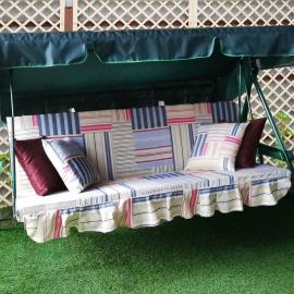 Матрас  с 2-мя подушками на садовые качели Регата