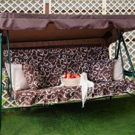 Матрас с 2-мя подушками на садовые качели Вензеля, поликоттон