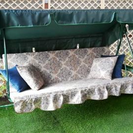 Матрас с 2-мя подушками на садовые качели Ампир, поликоттон