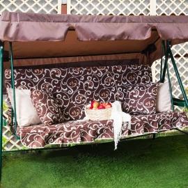 Матрас  с 2-мя подушками на садовые качели Вензеля